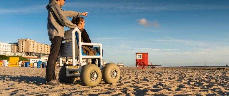Insel für Rollstuhlfahrer