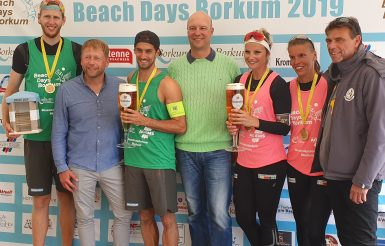 Beachvolleyball: Sieger 2019 der Beach Days Borkum