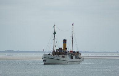 Ankunft am Borkumer Außenhafen