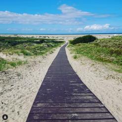 Der Weg zum Strand am Sturmeck