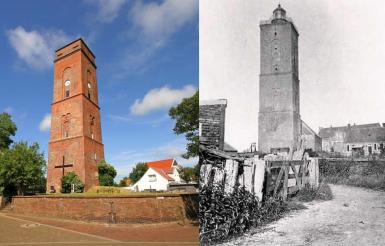 der alte Leuchtturm - heute und früher