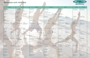 Wochenprogramm SportStrand Borkum